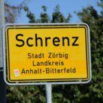 Ortsschild von Schrenz