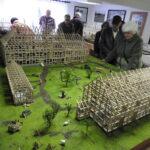 Ausstellung verschiedener Miniaturmühlenmodelle aus Abbenrode